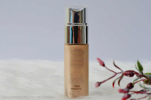 Direction Loreal Paris True Match Liquid Foundation