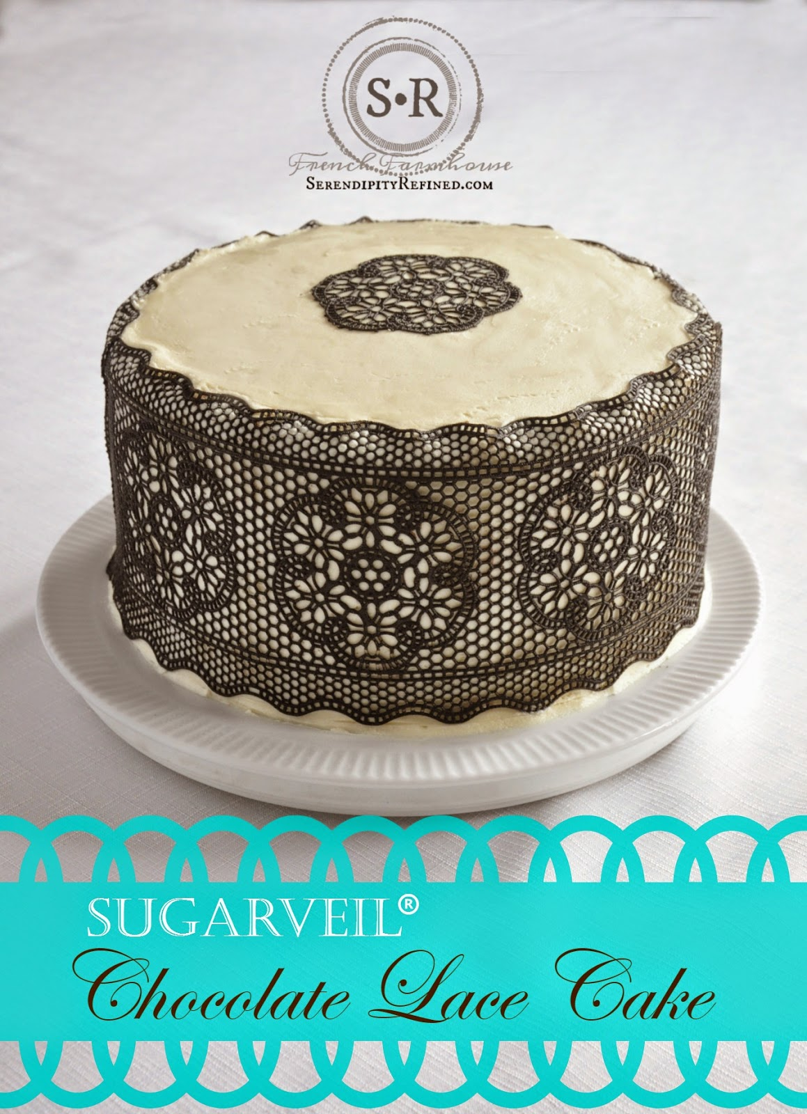 Serendipity Refined Blog: Easy Chocolate Lace Cake