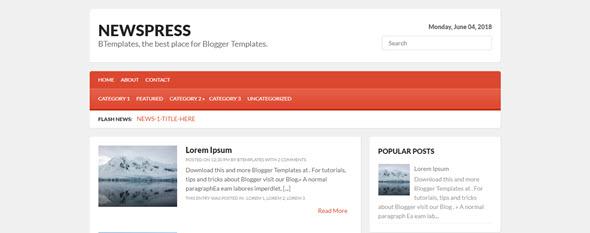 NewsPress Blogger Teması