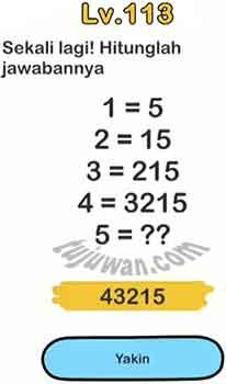 Jawaban Sekali Lagi Hitunglah Jawabannya Brain Out Pertanyaan Level 113