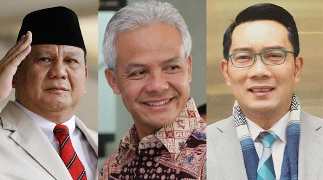Survei: Prabowo Capres Terkuat Kalahkan Ganjar dan Ridwan Kamil