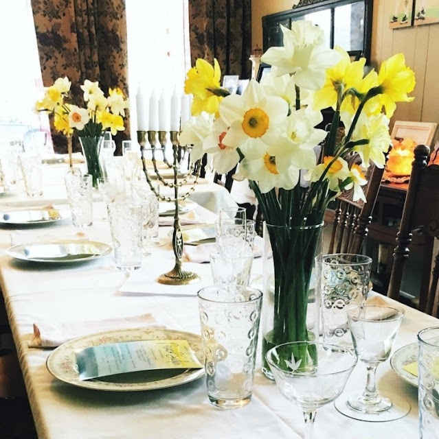 A Watercolor Daffodil Seder | Land of Honey