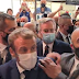 """Manifestante grita """"viva a revolução"""" e atira ovo em Presidente da França"""