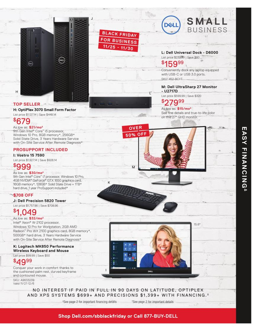 Dell Small Business Black Friday 2019 Page 5