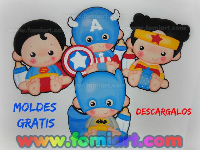 super heroes babys gratis moldes