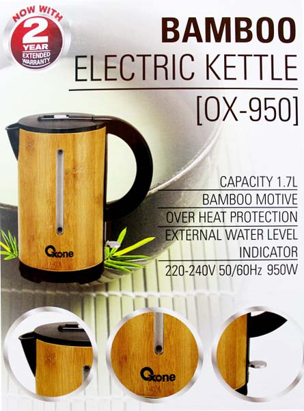 OX-950 Oxone Bamboo Electric Kettle - 950W