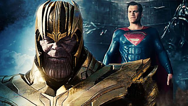 Superman Battles Thanos In Awesome Endgame Fan Art