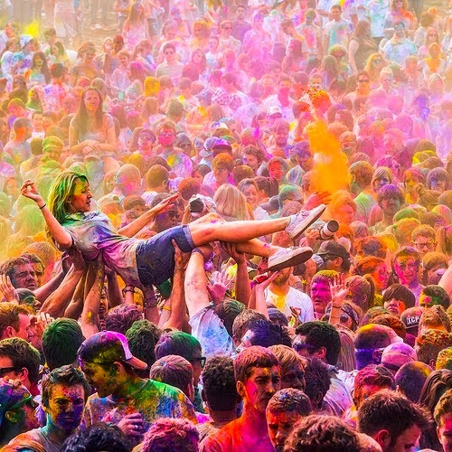 happy holi hot girl