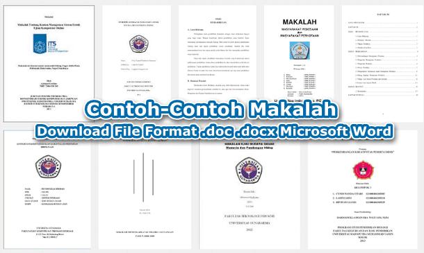 Kumpulan Contoh Makalah Format .doc .docx Microsoft Word