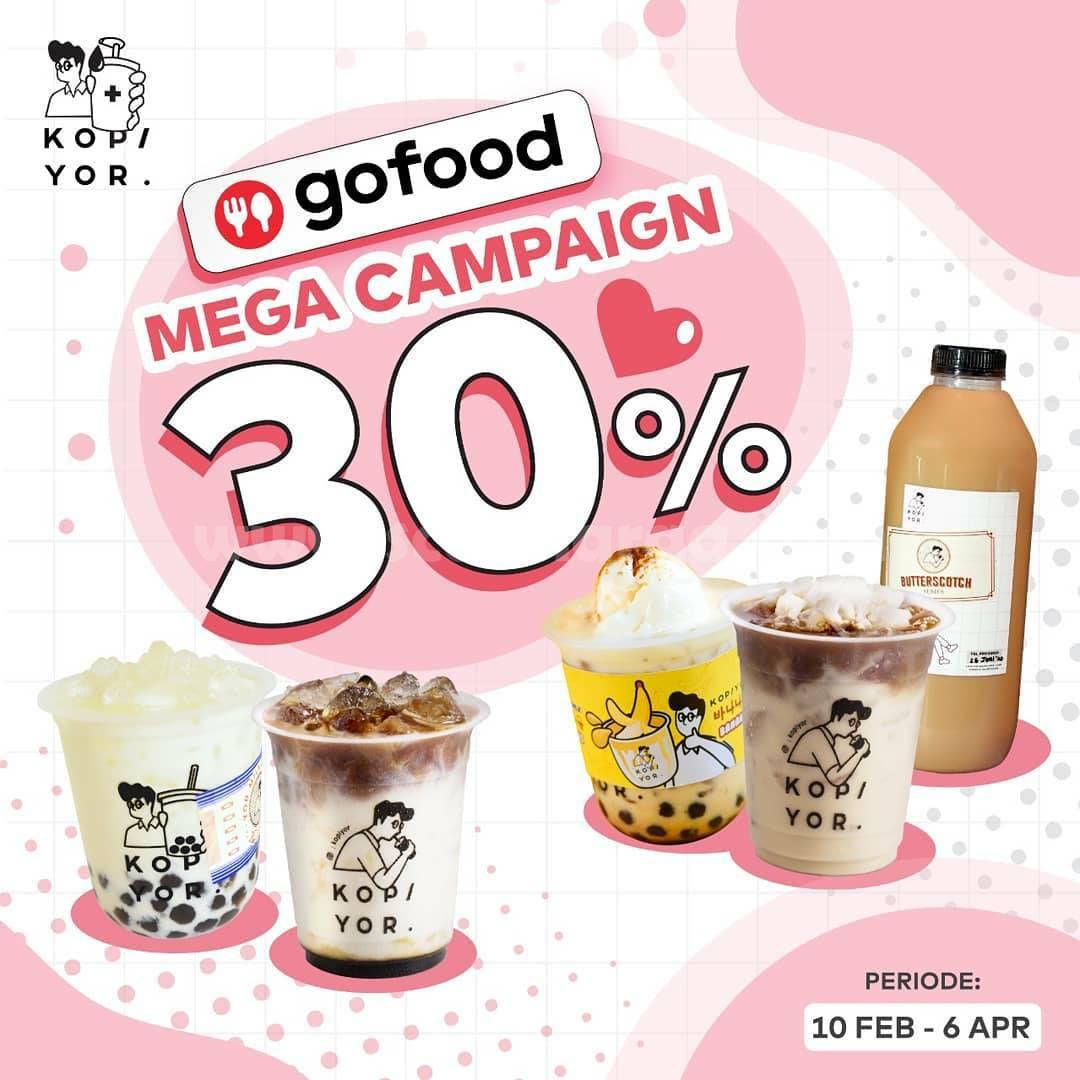 KOPI YOR Promo MEGA CAMPAIGN GOFOOD! DISKON hingga 30%