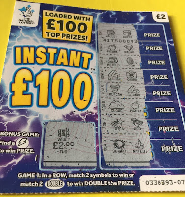 £2 Instant £100 Scratch Card - After
