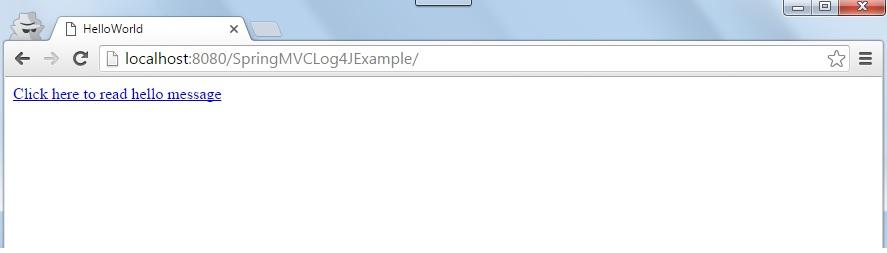 Spring MVC + log4j example - Java2Blog