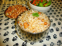 images for Peanut Rice Recipe / Kadalai Sadam Recipe / Verkadalai Sadham - Easy Lunch Box Recipes