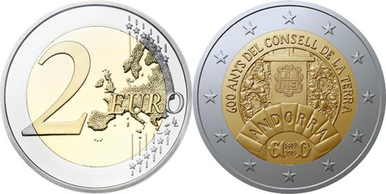 Andorra 2 euro 2019 - 600th anniversary of the Consell de la Terra