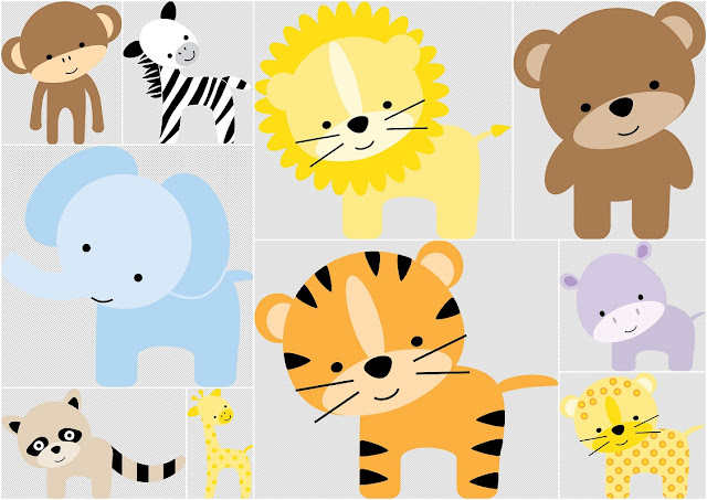 The Zoo for Babies: Free Scrapbook Kit.