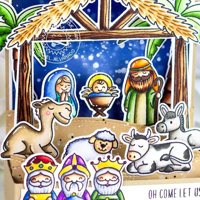 Sunny Studio Stamps: Holy Night Christmas Cards by Rachel Alvarado