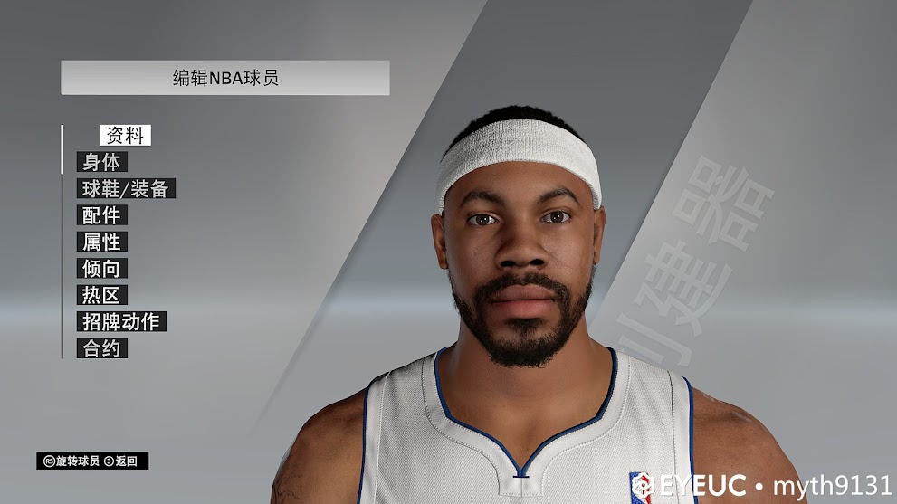 Rasheed Wallace Cyberface and Body Model by Myth25 and Mr.StAr [FOR 2K21]