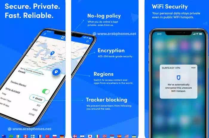 تطبيق SurfEasy VPN للآيفون والآيباد