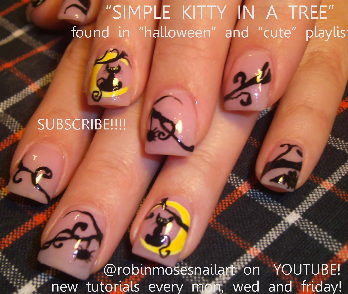 "Robin Moses Nail Art: ""halloween nails"" ""black cat nails ..."