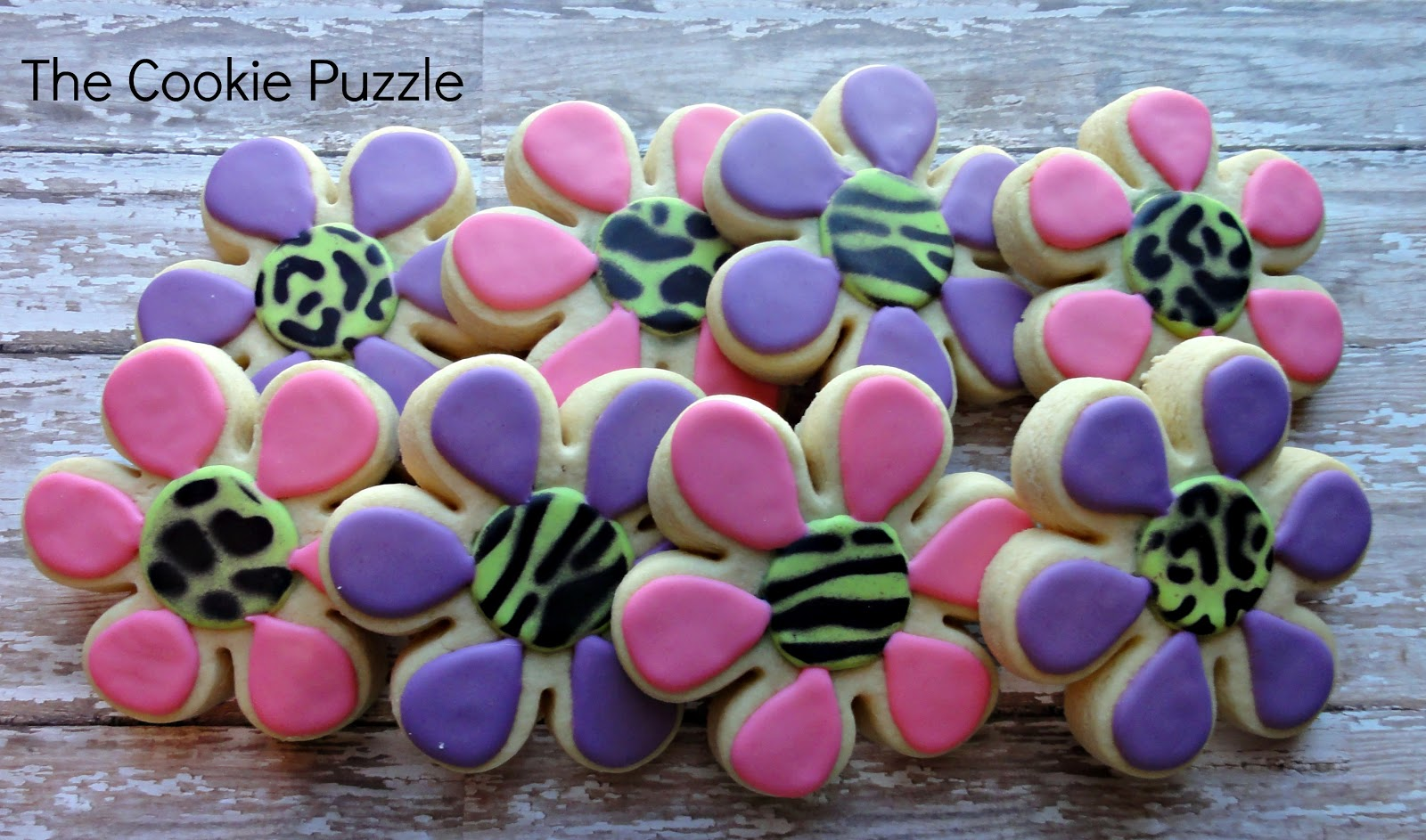 The Cookie Puzzle: Air Brushed Animal Print Cookies