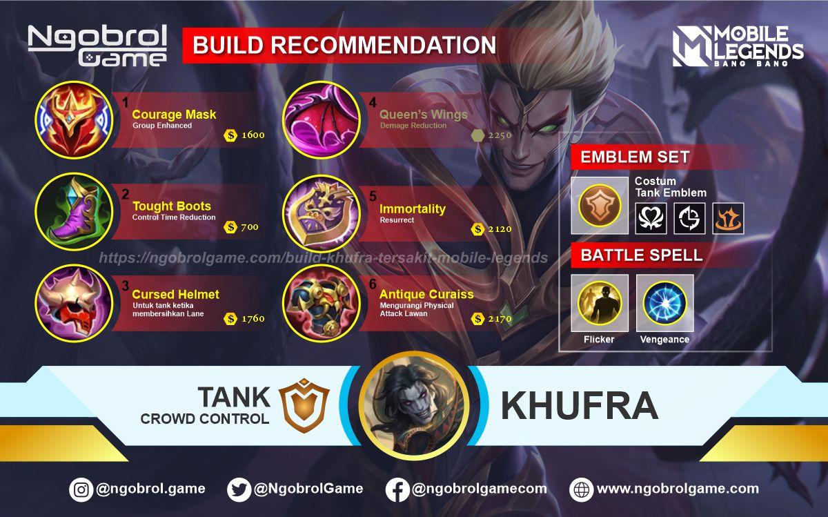 Build Khufra Savage Mobile Legends