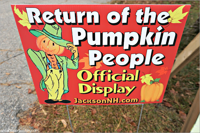Cartel del Return of the Pumpkin People de Jackson en New Hampshire