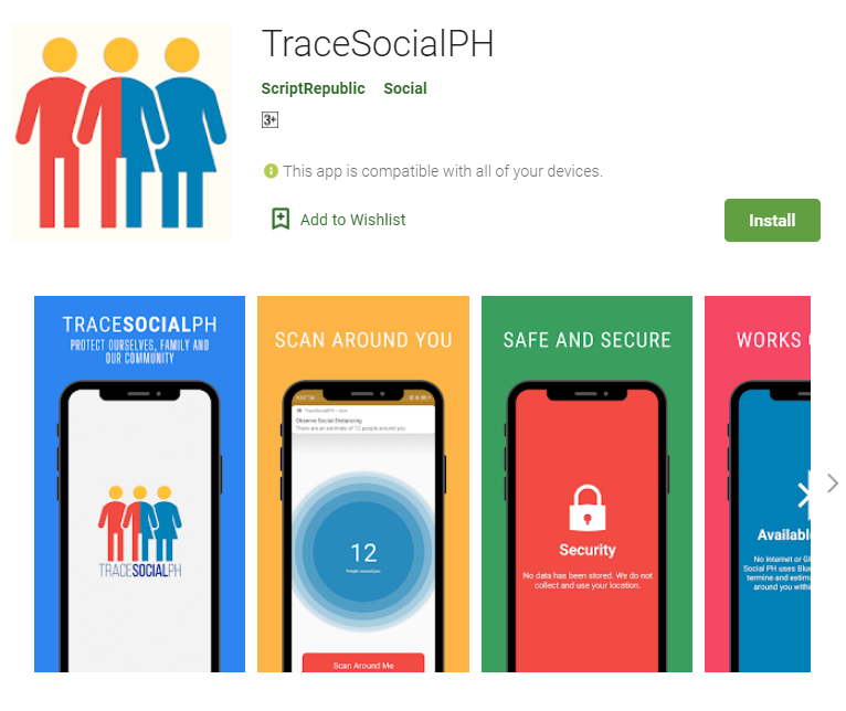 Pinoy-made app TraceSocialPH helps in social distancing