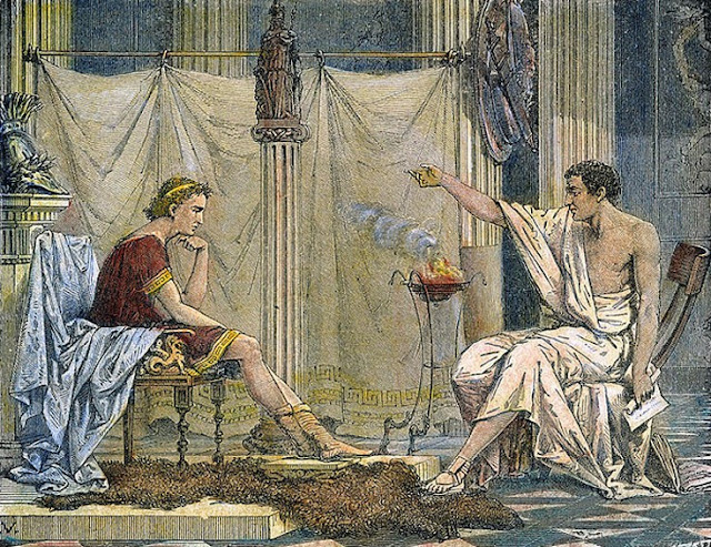 Ancient Greece: Theophrastus, a student, companion and successor of Aristotle