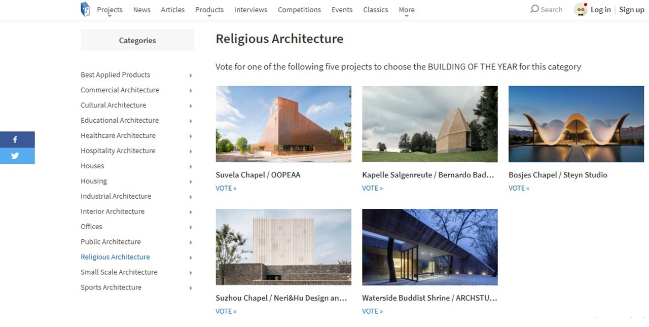 Goan Chapel shortlisted for archdaily's 'Building of the