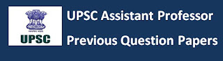 UPSC Assistant Professor Previous Papers