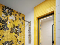 Yellow Bathroom Tiles