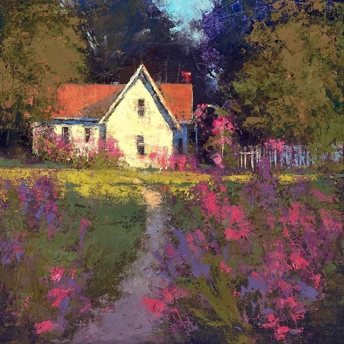 Приглушенные цвета и размытые контуры. Romona Youngquist