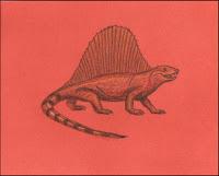 Dimetrodon,synapsid,dino,dinosaur,paleontology,paleoart,drawing,art