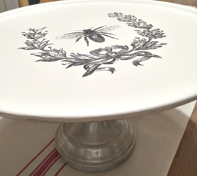Repurposed Pizza Pedestal Dish
