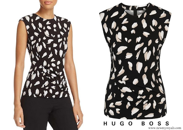 Princess Marie wore Hugo Boss Black White Enavi Blouse