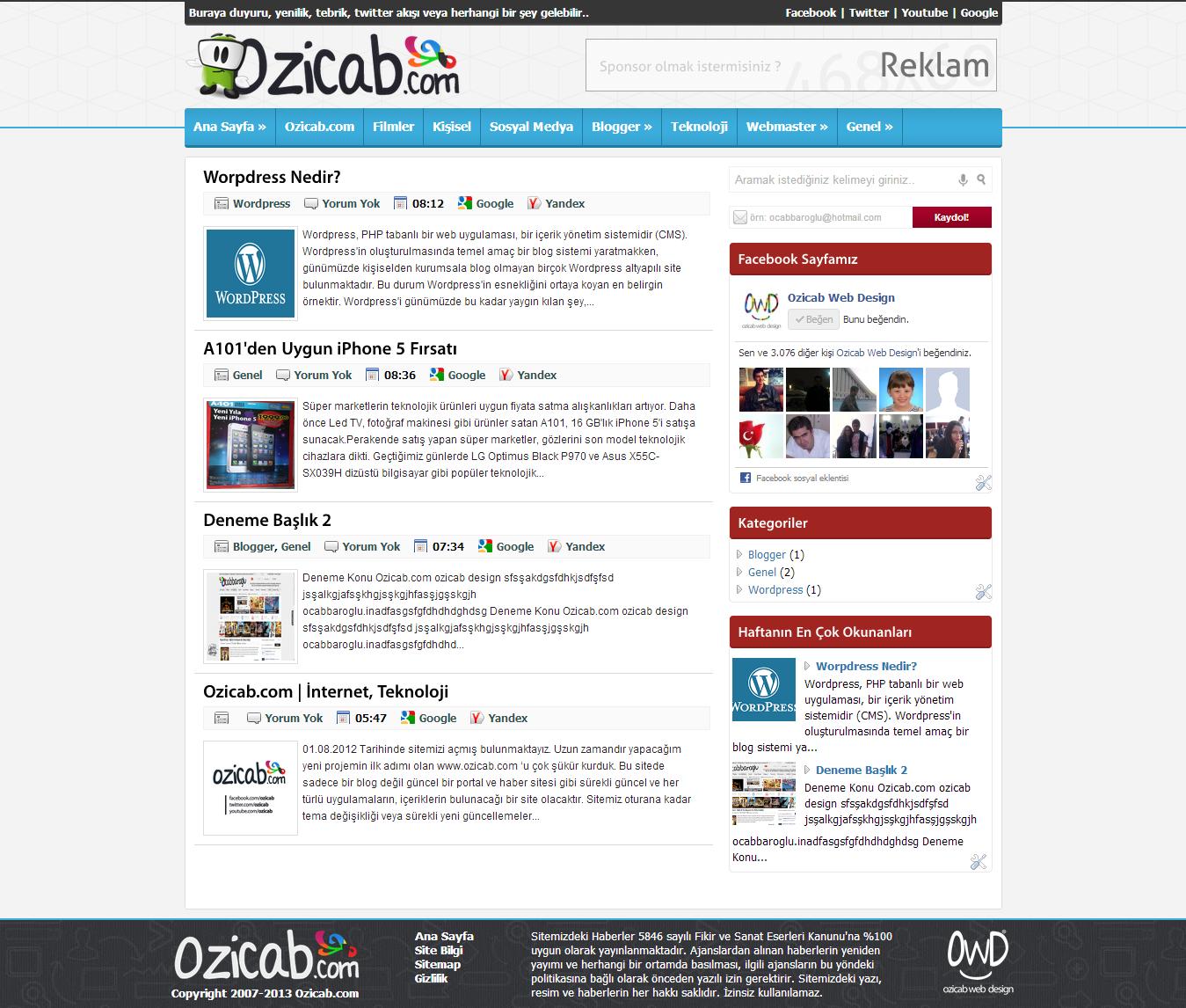 Mozicab Blogger Blog Teması