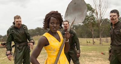 Lupita Nyong'o prepares to kick zombie ass in LITTLE MONSTERS.