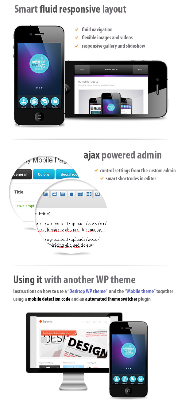 Mobile Page V3 Wordpress Theme