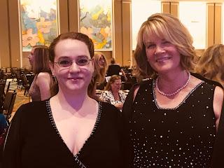Romance author Sarah Andre with fiction editor Anya Kagan at the 2017 Romance Writers of America RITA Award ceremony