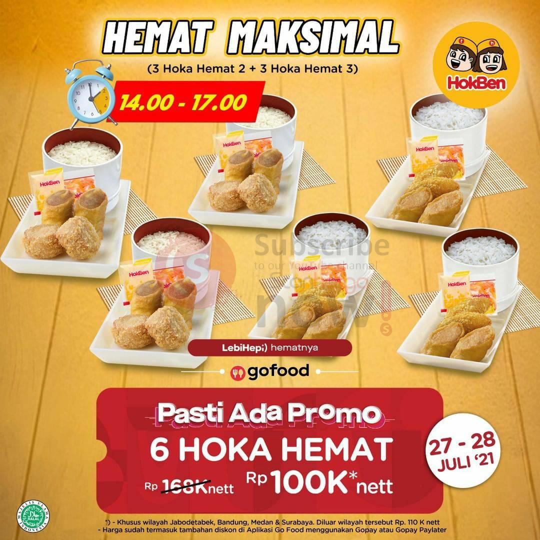 Hokben Promo 6 Paket Hoka Hemat hanya Rp.100.000 via Gofood