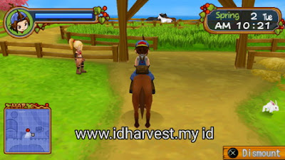Cara Latihan Balap Kuda di Harvest Moon: Hero of Leaf Valley