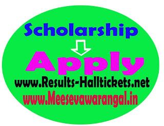 Telangana Scholarship Fresh Application Apply 2018