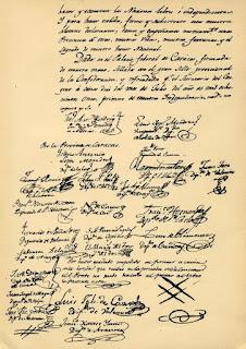 Firmas del Acta de la Independencia de Venezuela