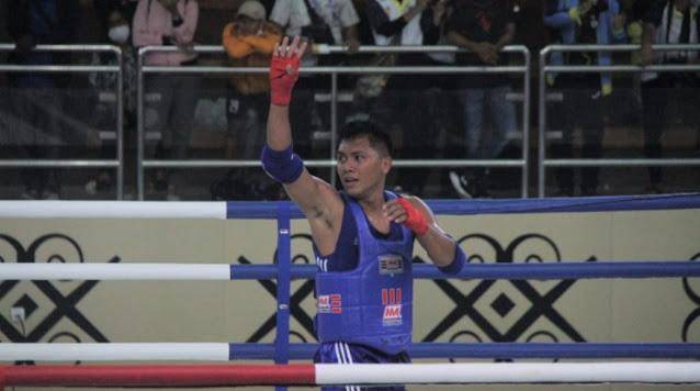 Jevan Tawaluyan dari Sulawesi Utara Siap Maju Ke Final Muathay PON XX.lelemuku.com.jpg