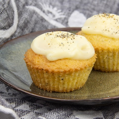 Cardamom Muffins with Vanilla Custard