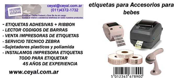 rollo de etiquetas adhesivas Chubut