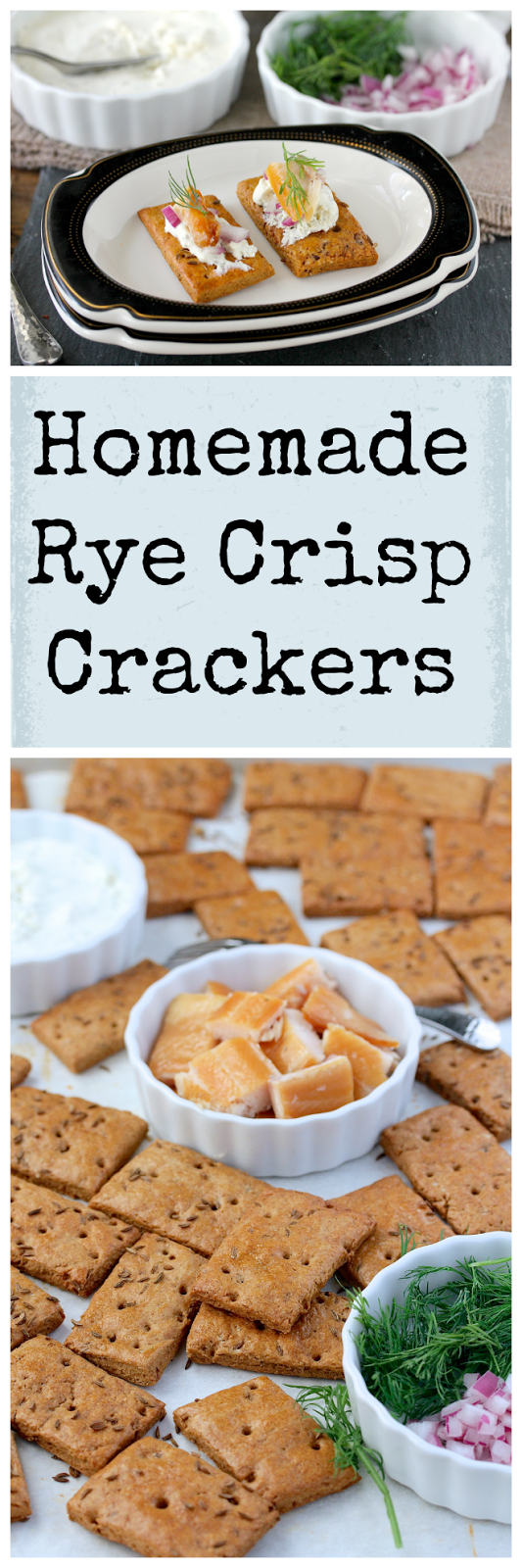 These homemade rye crisp crackers are intensely flavored with the rye and caraway flavors of a traditional rye bread or cracker.
