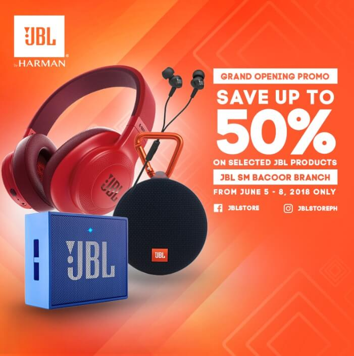 50% discount on selected JBL products