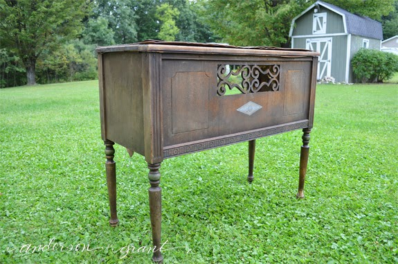 Antique Radio Speaker Table | www.andersonandgrant.com