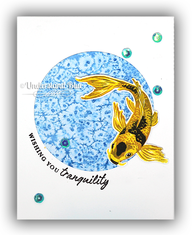 Salted Watercolor Background + Koi by Understand Blue for Hero Arts